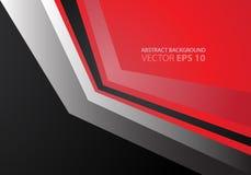 Metal rojo abstracto de la flecha y vector negro Imagenes de archivo