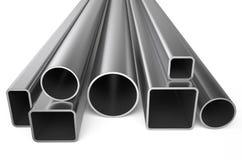 Metal rolado, variedade das tubulações quadradas ilustração stock
