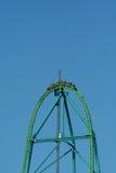 Metal roller coaster Stock Image