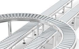 Metal Roller Conveyor System. Royalty Free Stock Photos