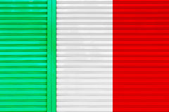 Metal roller door texture flag of Italy Royalty Free Stock Image