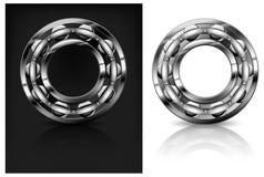 Metal roller on white & black Stock Images