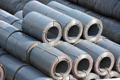 Metal-rolo de aço empilhado Fotos de Stock