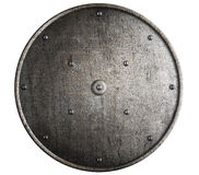 Metal Roman shield isolated Royalty Free Stock Photo