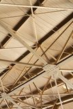 Metal Roof Ceiling. Metal ceiling pattern abstract background Royalty Free Stock Photography