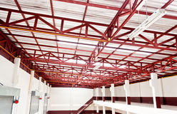 Metal roof construction Stock Photos
