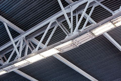 Metal roof construction Stock Images