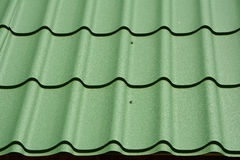 Metal Roof Construction. Metal Roofing.  royalty free stock photo