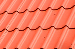 Metal Roof Construction. Metal Roofing.  stock image