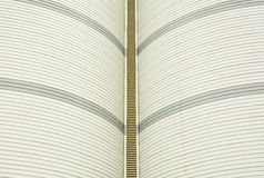 Metal roof curve industrial Royalty Free Stock Photo