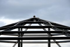 Metal roof Frame Stock Photos
