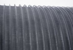 The metal roof of the hangar arches.  Stock Images