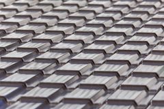 Metal roof in the house as an abstract background.  royalty free stock images