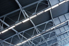 Metal roof of industrial building Stock Image