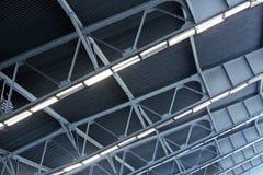 Metal roof of industrial building Stock Image