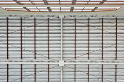 Metal roof pattern Royalty Free Stock Photo