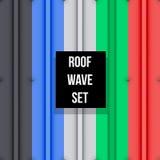 Metal roof seamless pattern set Stock Photo