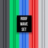 Metal roof seamless pattern set Stock Photos
