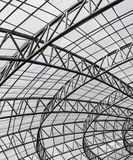 Metal roof structure Stock Photo
