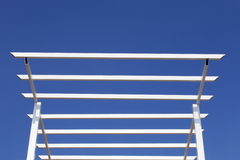 Metal roof structure on the blue sky Stock Image