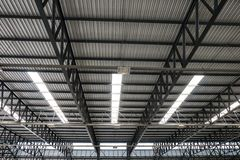 Metal roof structure Stock Images