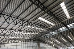 Metal roof structure Stock Photography