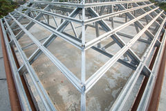 Metal roof structure Stock Photos