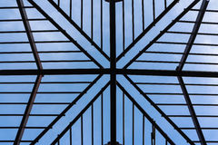Metal roof structure with sky. Stock Photography