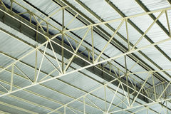 Metal roof structure. Of warehouse Stock Image