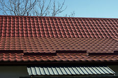 Metal roof tiles Stock Images