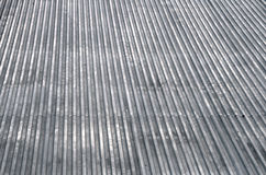 Metal roof top texture. Abstract gray metal roof top texture background Stock Images