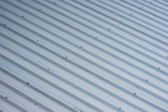 Metal roofing on commercial construction Stock Photography