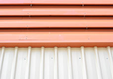 Metal roofing on commercial construction Royalty Free Stock Photos
