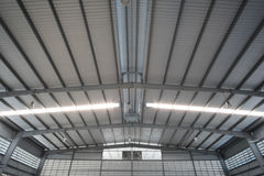 Metal roofing. Design development factory stock images