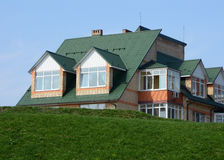 Metal roofing. stock photo