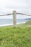 Metal Rope Fence, Tunkalilla Beach, Fleurieu Peninsula, SA Stock Images