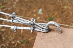 Metal rope. Stock Photos