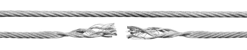 Metal rope part Stock Photography