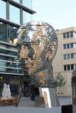 Sculpture head of Franz Kafka in Prague Czech Republic stock image