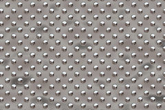 Metal round dots - chrome stock photos