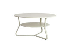 Metal round table desk Stock Photography