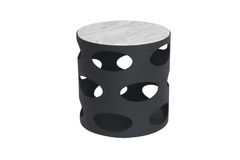 Metal round table Royalty Free Stock Images