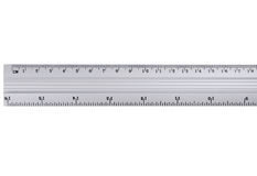 Metal ruler. Stock Images