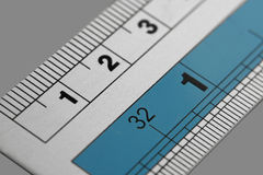 Metal ruler. Royalty Free Stock Images