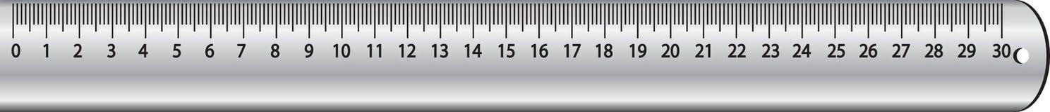 Metal ruler Royalty Free Stock Image