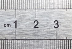 Metal ruler Stock Image
