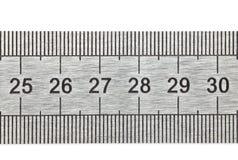 Metal ruler Royalty Free Stock Images
