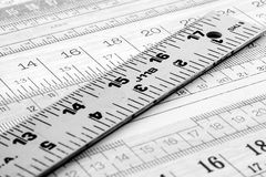 Metal ruler Royalty Free Stock Photo