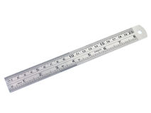 Metal ruler isolated Royalty Free Stock Photos