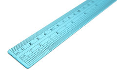 Metal ruler isolated Stock Images